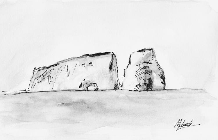 Le Rocher Percé - Dessin de McLoed