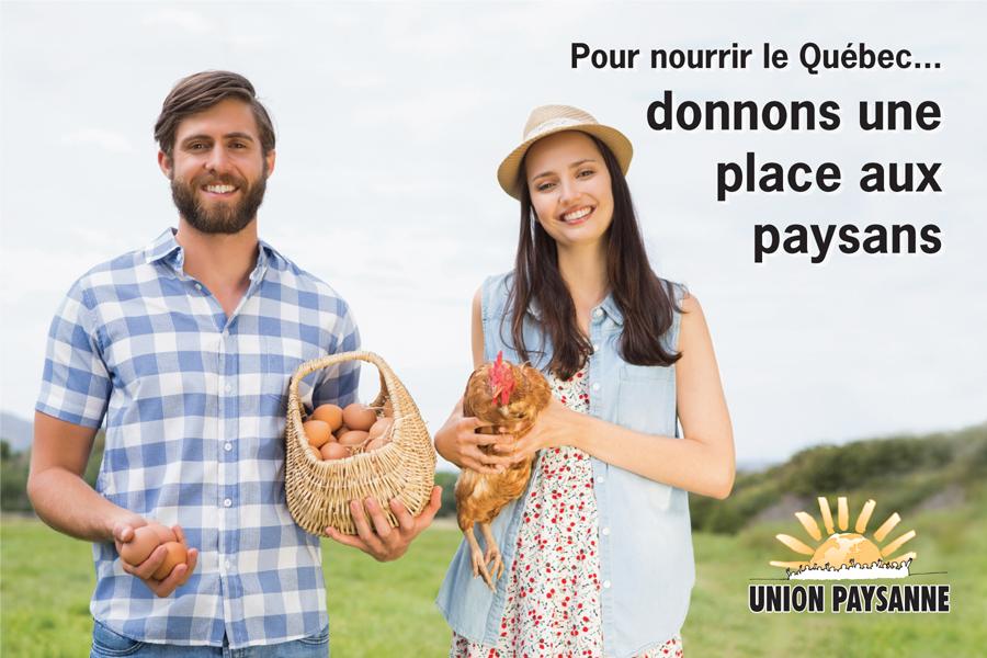 Campagne Pour nourrir le Québec… donnons une place aux paysans